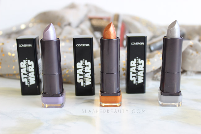 CoverGirl Star Wars Lipstick Swatches + Mascara Review | Slashed Beauty
