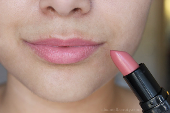 New e.l.f. Studio Moisturizing Lipsticks for Fall - Click through to see lip swatches of all the new shades! This one is called Southern Bell | Slashed Beauty