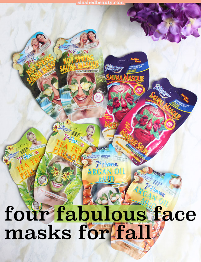 Four Fabulous Face Masks for Fall | Slashed Beauty