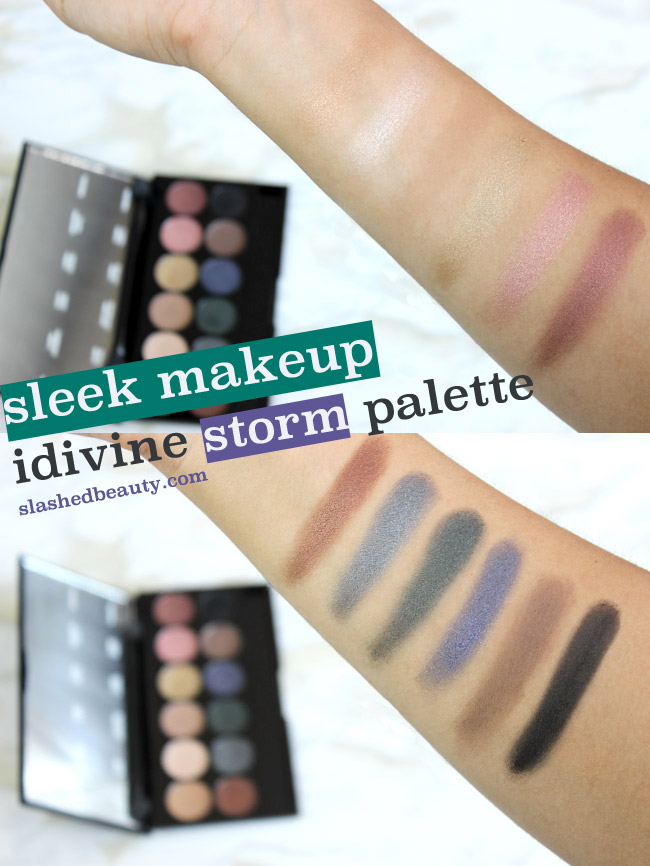 Sleek MakeUp iDivine Storm Palette - Click through to see swatches & read the review! | Slashed Beauty