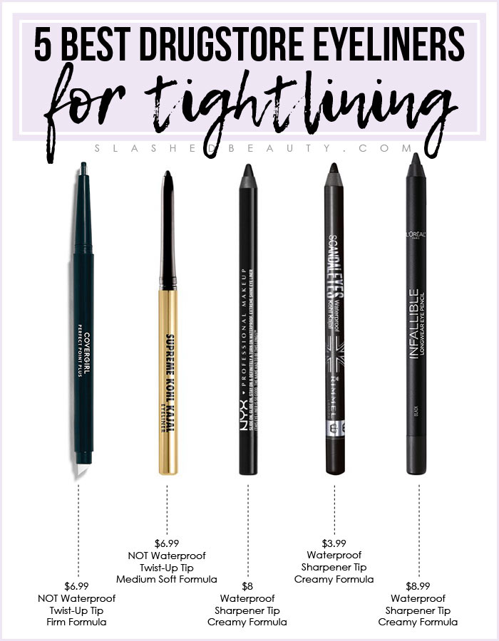 5 Best Drugstore Eyeliners for Tightlining | Slashed Beauty