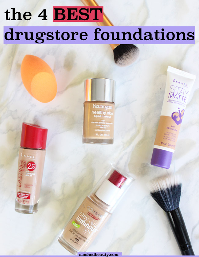 It can  be hard to find the perfect drugstore foundation for your skin. I've tried enough to deem these the best drugstore foundations ever. Click through to find out which one's for you! | Slashed Beauty