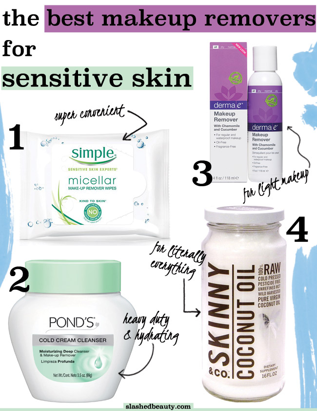 Makeup removers can be harsh. Here are the best ones for sensitive skin that will still get the job done! | Slashed Beauty