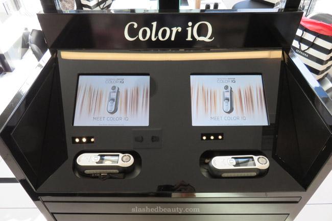 The new SEPHORA + PANTONE Color IQ can match you up with your perfect shade of foundation, concealer and lipstick! Click through to see how it all works. | Slashed Beauty
