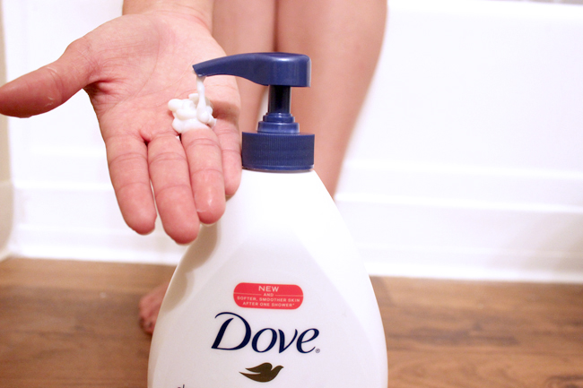 Are you ready for National Healthy Skin Month in November? I'm partnering with Dove and preparing with the Dove Deep Moisture Nourishing Body Wash so I can still enjoy my steamy showers. Click through to see why it's the best gentle cleanser for relaxing showers. | Slashed Beauty