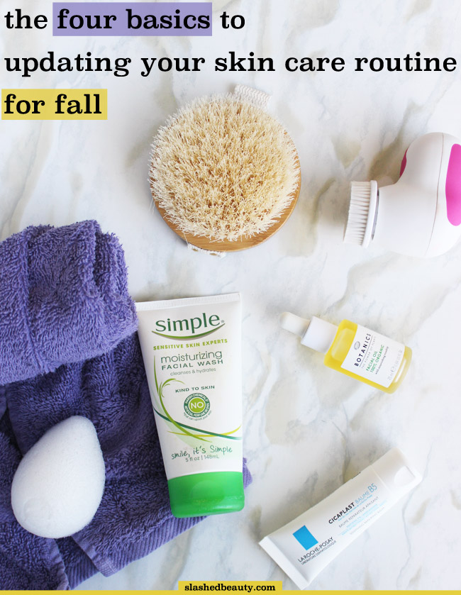 Now that fall has hit, and winter is around the corner, be sure you know these four basic ways to update your skin care routine! | Slashed Beauty