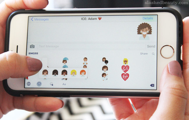 Curly girls rejoice! There are now curly hair emojis thanks to Dove Hair that you can use in text messages, emails and more. Click through to find out how to download them onto your phone.