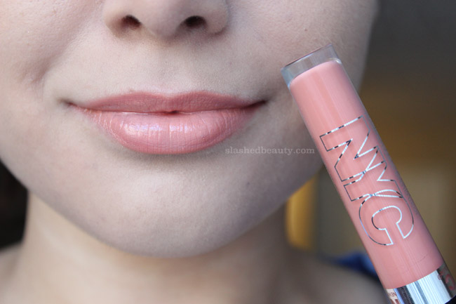 The NYC Expert Last Lip Lacquers are the newest lip gloss and lipstick fusion in the drugstore. Click through to see swatches of four gorgeous shades. This one is Riverside Romance | Slashed Beauty