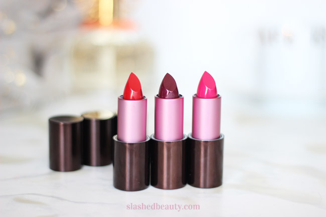 See why the mark. Lipclick lipsticks are must-haves for people who love matte lipsticks but hate dry lips-- also see swatches in the post!