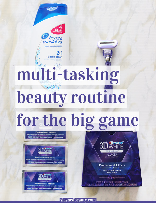 Game Day can be exciting and chaotic, leaving me little time to get ready. Check out how I multitask in my beauty routine to get to socializing faster!