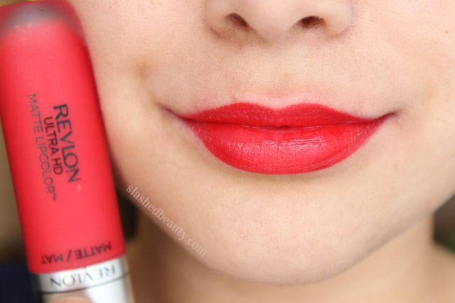 Revlon Ultra HD Matte Lipcolor in Amour - Click through to read a full review and see five other shades swatched!