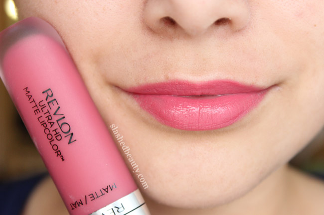 Revlon Ultra HD Matte Lipcolor in Devotion - Click through to read a full review and see five other shades swatched!
