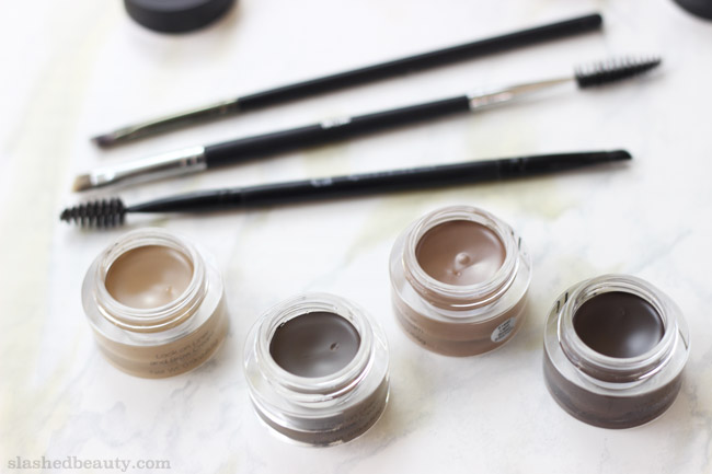 Get brows on point while pinching pennies with the e.l.f. Lock On Liner & Brow Cream. Click through for swatches!