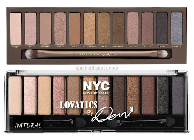 See swatches of the new NYC Lovatics by Demi Natural Eyeshadow Palette. You won't believe the quality of these affordable shadows!