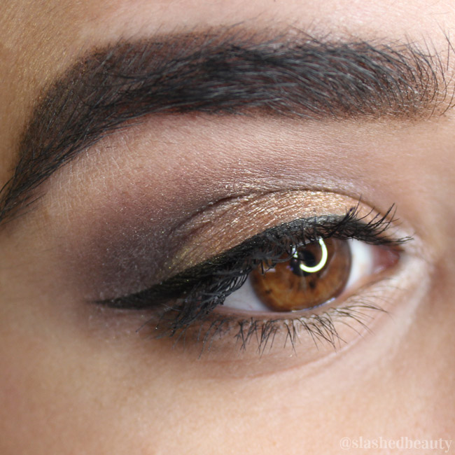 Eyeshadow done using the NYC Lovatics by Demi Natural Eyeshadow Palette, picture taken after 12 hours of wear! Click through for a full review and swatches. | Slashed Beauty