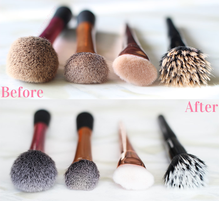 The Real Techniques Cleansing Brush makes washing makeup brushes a breeze. See how it compares to other brush cleaning tools in this post! | Slashed Beauty