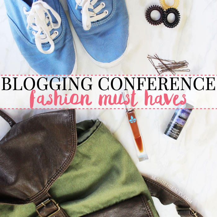 Check this list before leaving for your blogging conference-- you won't want to for get these must-haves to make the most out of the weekend!