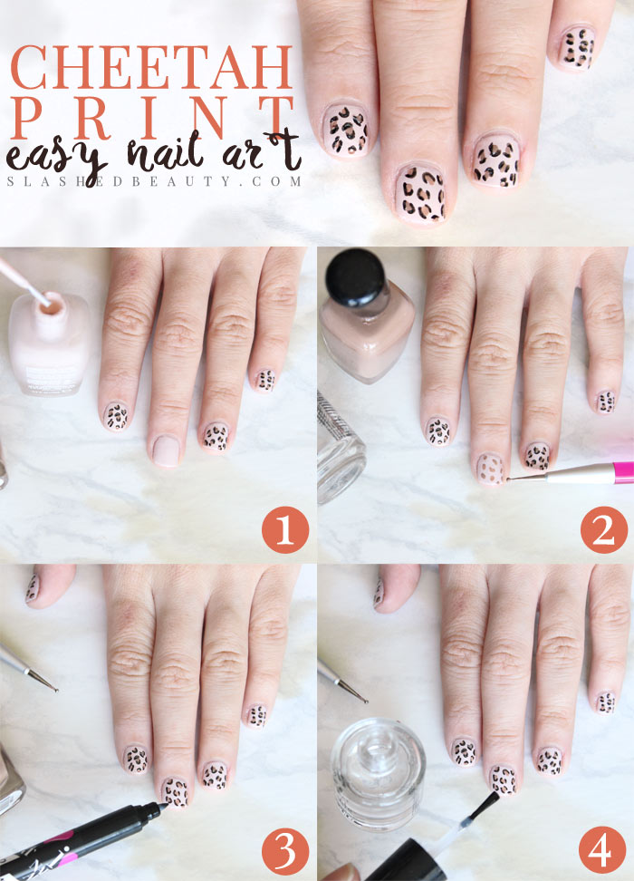 Easy Cheetah Print Nail Art Tutorial Slashed Beauty