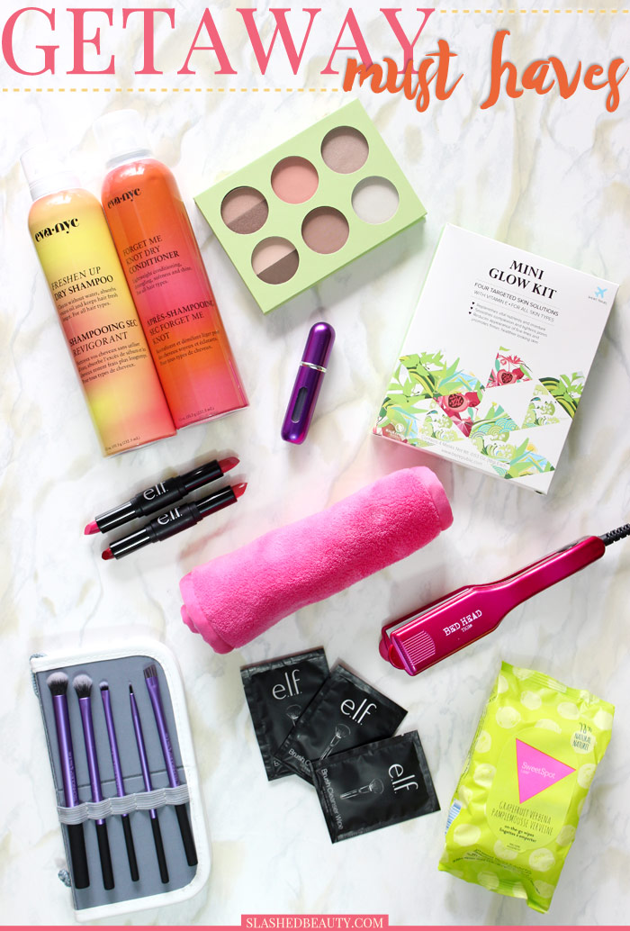 Check out what you can't leave home without when you're going on a vacation getaway this season! | Slashed Beauty