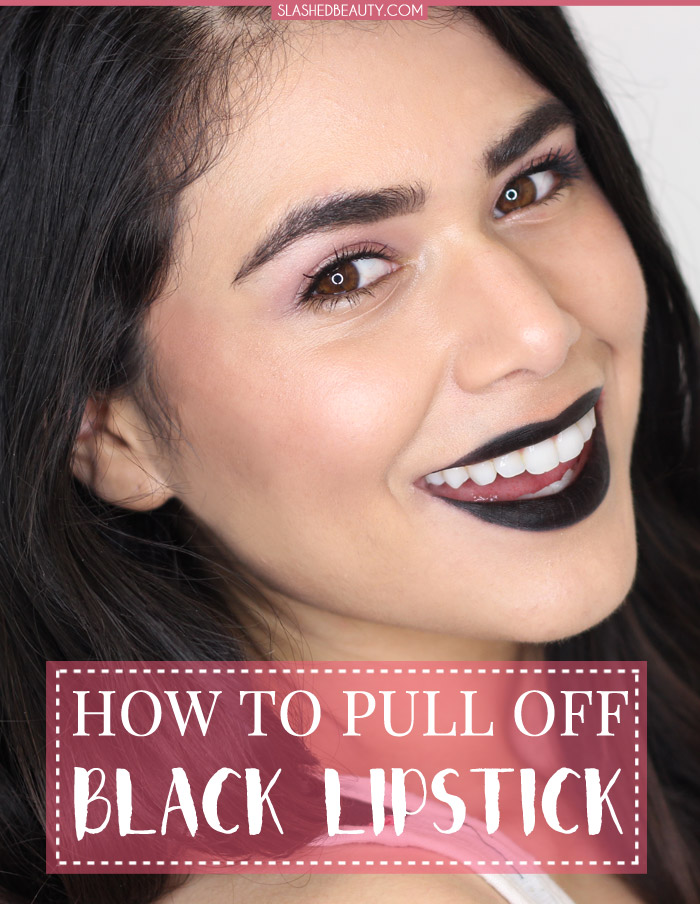 Learn how to pull off black lipstick without it taking over your look with these makeup tips. | Slashed Beauty