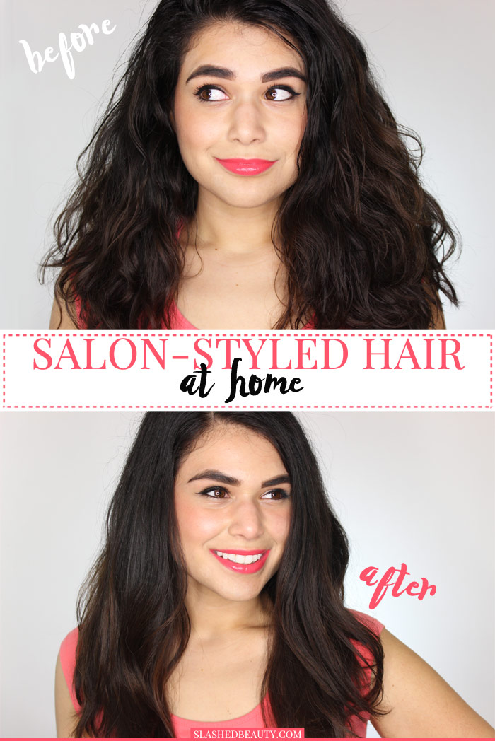 You don't have to spend a ton of money to get salon-styled hair. See how to do it yourself at home! | Slashed Beauty