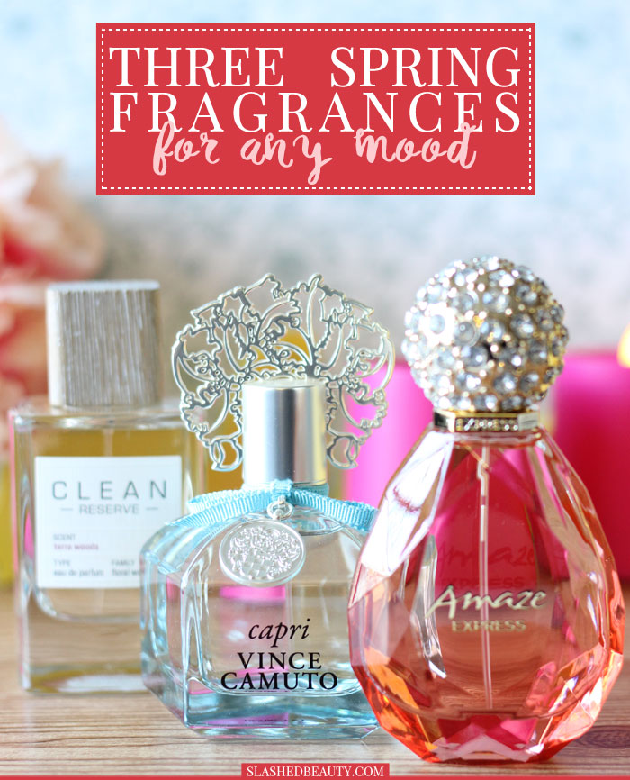 Check out these three spring fragrances to find one that fits your mood this season! | Slashed Beauty