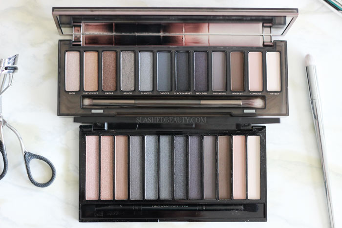 Is the Makeup Revolution Iconic Smokey Palette actually an Urban Decay Naked Smoky dupe? Find out and see side-by-side swatches! | Slashed Beauty