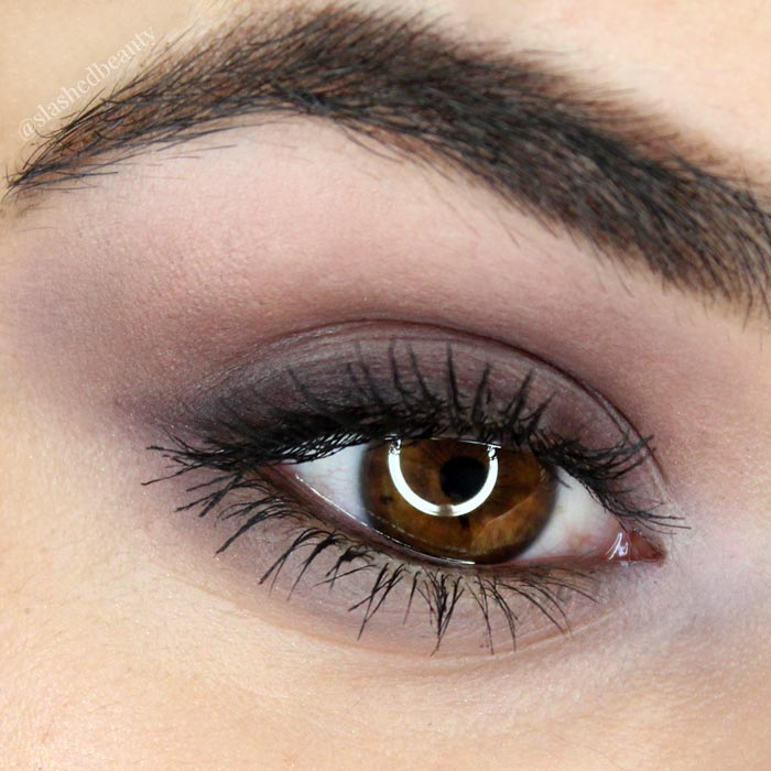 Watch the full tutorial for this plum smoky eye shadow look using the Kat Von D Shade & Light Contour Quad in Plum | Slashed Beauty