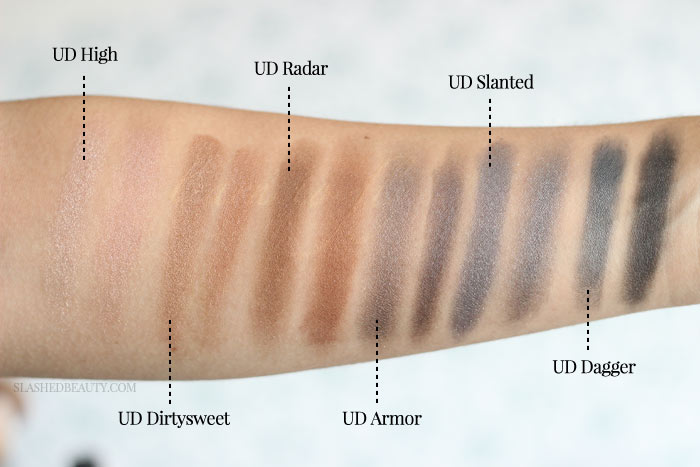 Is the Makeup Revolution Iconic Smokey Palette actually an Urban Decay Naked Smoky dupe? Find out the details beyond these swatches! | Slashed Beauty