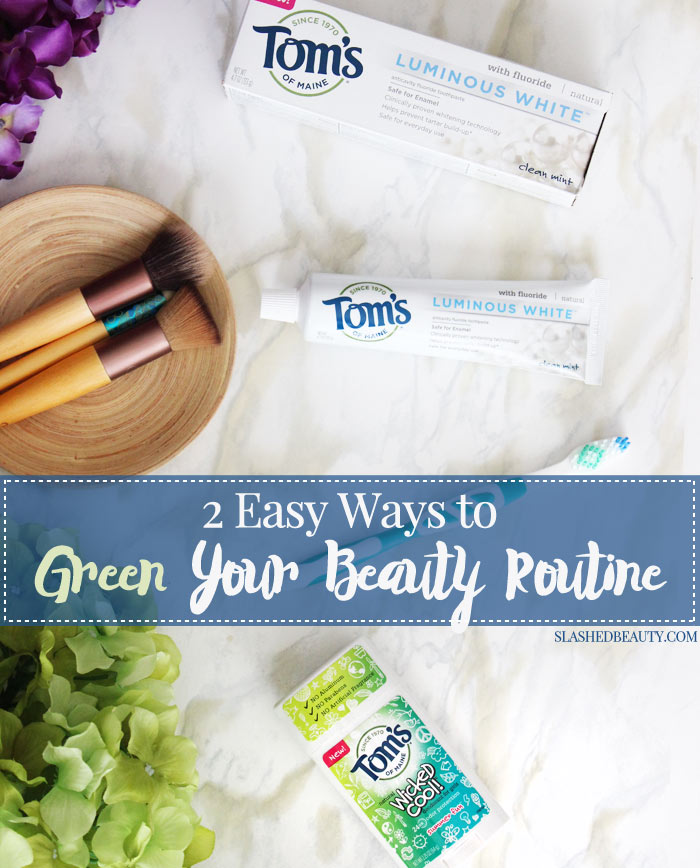 Learn about Target's Made to Matter products that can help you green your beauty routine, like these two from Tom's of Maine. | Slashed Beauty