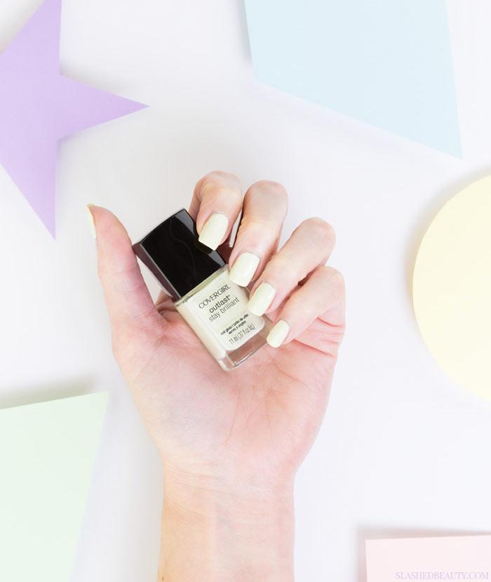 5 Pastel Drugstore Nail Polishes You Need Right Now: #2 Covergirl Outlast Stay Brilliant Salt Water Taffy