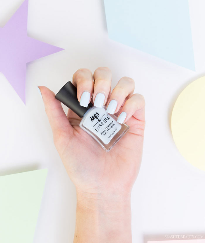 5 Pastel Drugstore Nail Polishes You Need Right Now: #5 Defy & Inspire Wear Resistant Nail Lacquer in Pack Your Bags