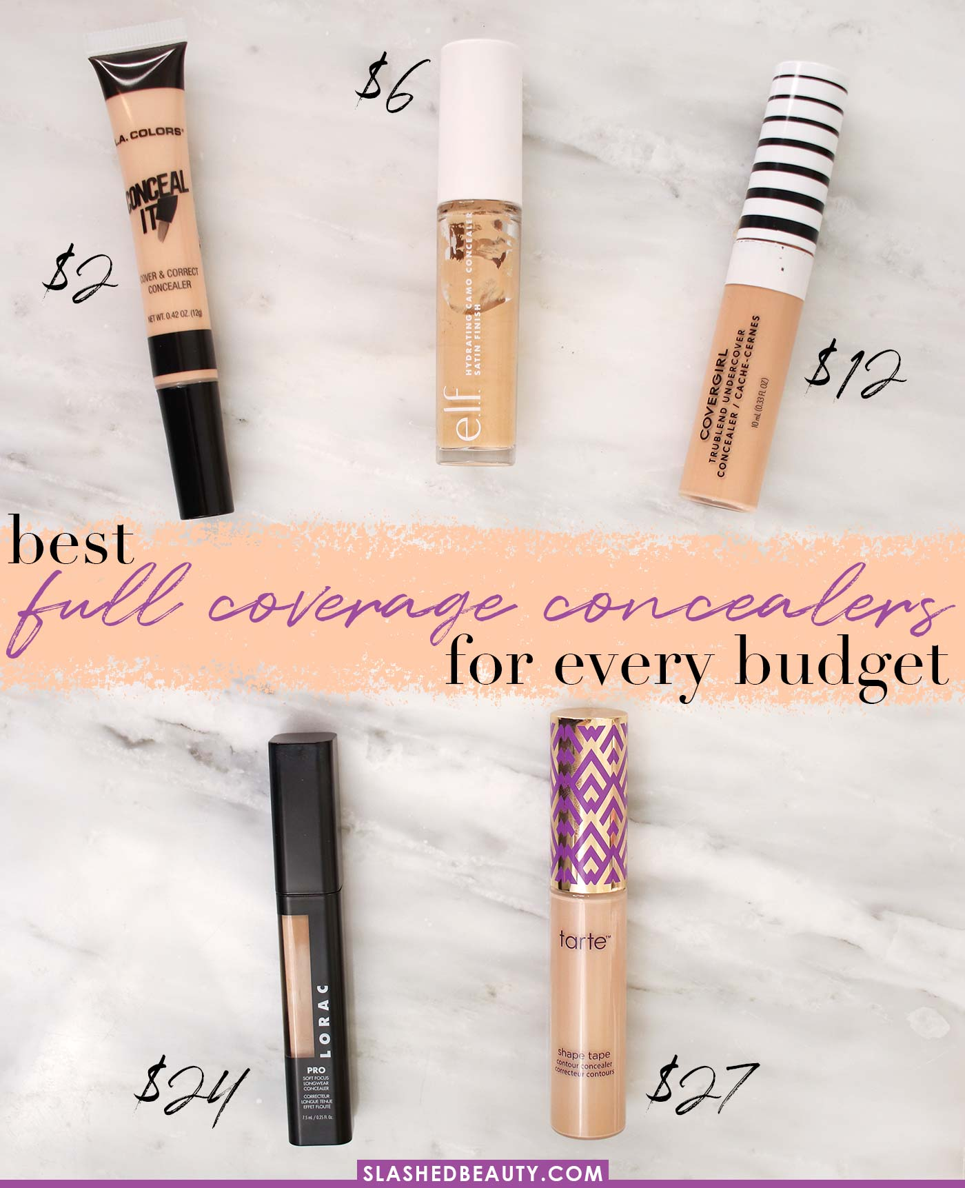 The 5 Best Full Coverage Concealers for Every Budget | Best Drugstore Concealer | Slashed Beauty
