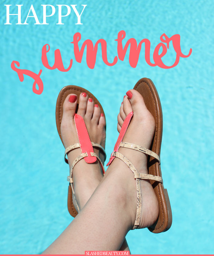 Just got my feet sandal-ready for summer! Check out my routine to make them as pretty as my sandals. | Slashed Beauty
