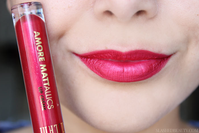 See swatches of all eight limited edition Milani Mattallics Lip Cremes! This shade is Mattely In Love. | Slashed Beauty