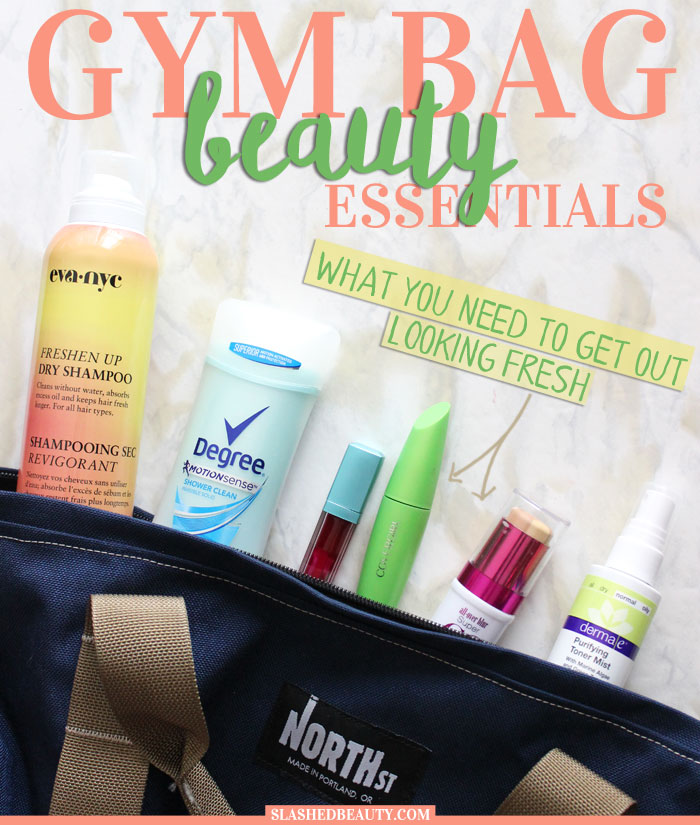 Make sure you have all the essentials for your gym bag beauty arsenal so you can rock your locker room beauty routine and go from workout to fresh-faced. | Slashed Beauty