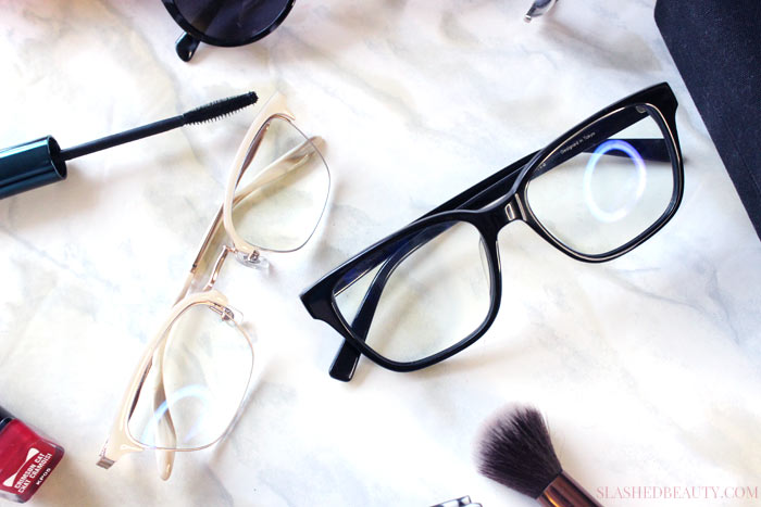Check out these makeup tips for glasses that will help you master your routine and stand out behind your frames. | Slashed Beauty