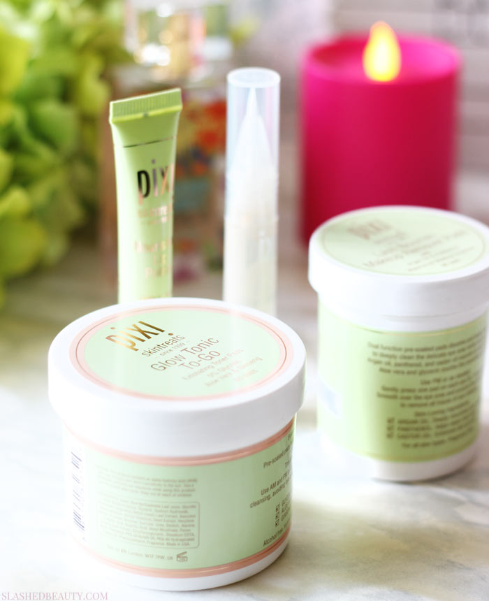 Check out the new travel friendly skin care from Pixi that's perfect for on-the-go this Summer! | Slashed Beauty