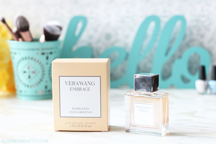 Can $30 buy you a sophisticated, elegant fragrance? See if the new Vera Wang Embrace Marigold and Gardenia scent transcends its price tag! | Slashed Beauty
