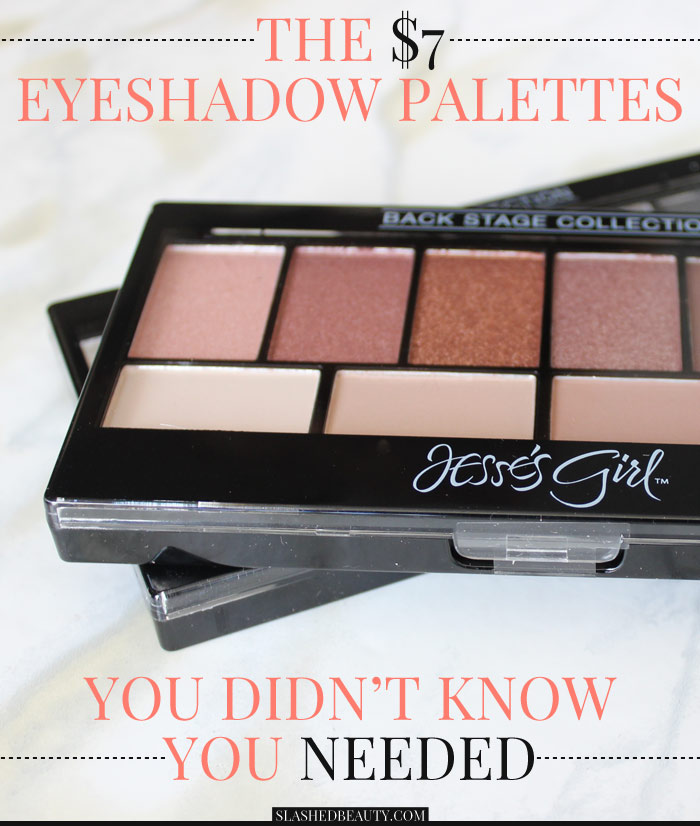 See swatches of the Jesse's Girl Back Stage Collection Eyeshadow Palettes and see why you've gotta pick them up NOW! | Slashed Beauty