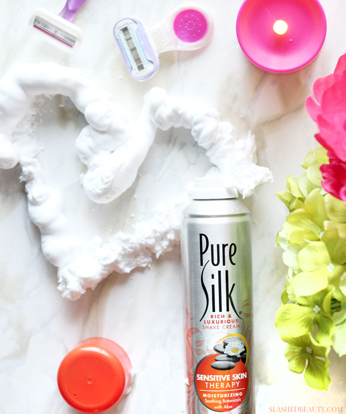 Learn how to grab a free bottle of my go-to shaving cream from Pure Silk! | Slashed Beauty