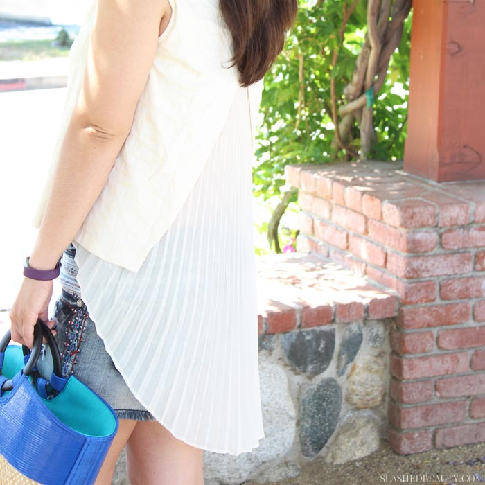 This summer outfit is breezy and glam to keep cool and chic at the same time! | Slashed Beauty