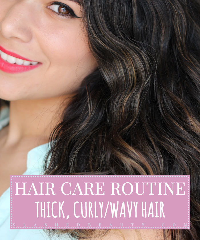 Check out what I use to keep my thick, curly and wavy hair healthy! | Slashed Beauty