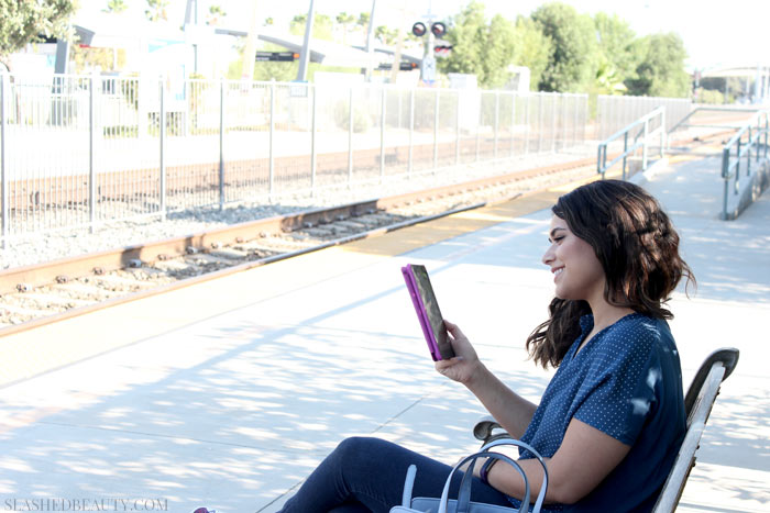 Budget friendly, sleek and stylish, the Amazon Fire Tablet is perfect for the traveling fashionista. Find out what it's capable of! | Slashed Beauty