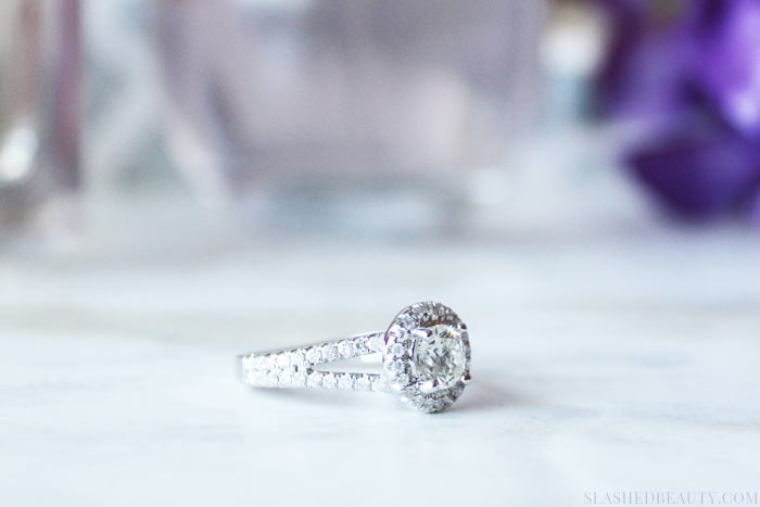 Wondering if you should choose a halo engagement ring? Here are four main reasons I love the style and chose it for my own ring.