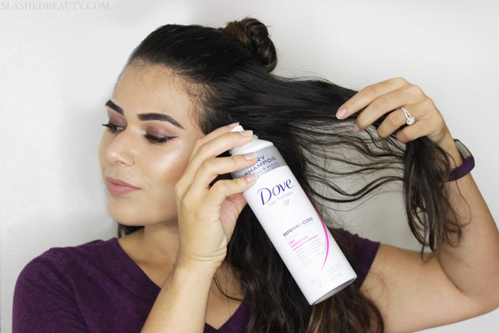 Textured hair looks great when recreating this topknot tutorial! See the step by steps and check out how to get the look with drugstore styling products. | Slashed Beauty