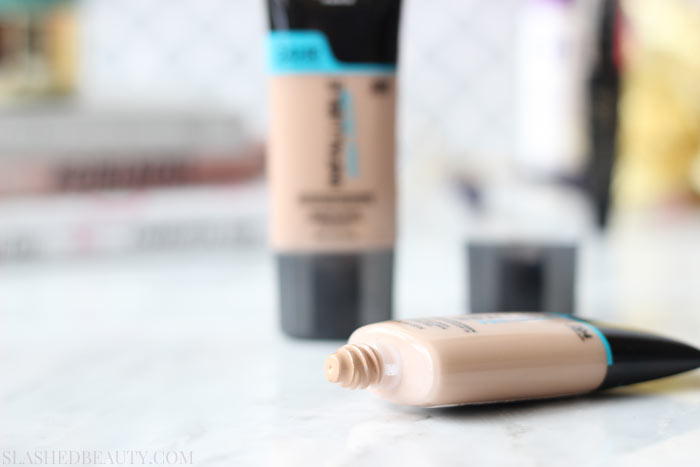 See a side by side application comparison of the L'Oreal Infallible Pro-Glow Foundation against bare skin and judge for yourself it's results! | Slashed Beauty