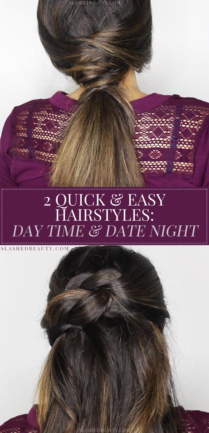 These two quick and easy fall hairstyles are trendy and functional for this season! Watch the step by step tutorials. | Slashed Beauty