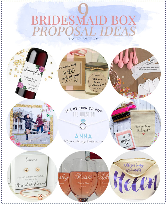 Check out these bridesmaid box proposal ideas to pop the question to your girls in a special way! | SlashedBeauty.com