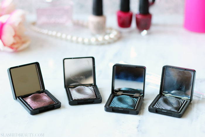 Check out what the Kiko Milano Water Eyeshadows look like applied both wet and dry! | Slashed Beauty